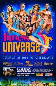 Fitness Universe Weekend 2016 @ Colony hotel | Miami Beach | Florida | United States
