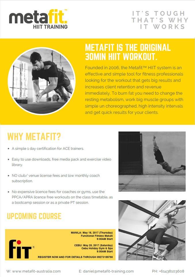 Metafit Hiit Training Course Ironpinoy Magazine