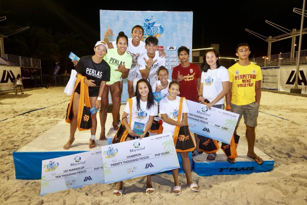 University of Santo Tomas ruled Tour Manila Open, the sixth leg of the Beach Volleyball Republic's BVR On Tour Series for 2018.