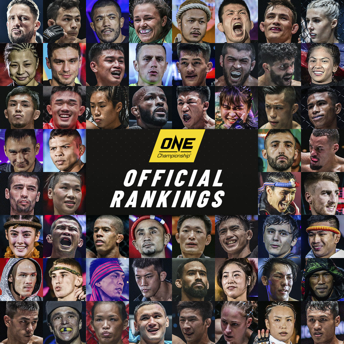 The largest global sports media property in Asian history, ONE Championship™ (ONE), today announced its first official athlete rankings for select weight divisions across Mixed Martial Arts, Muay Thai, and Kickboxing. Rankings for other weight divisions will be introduced in the future.
